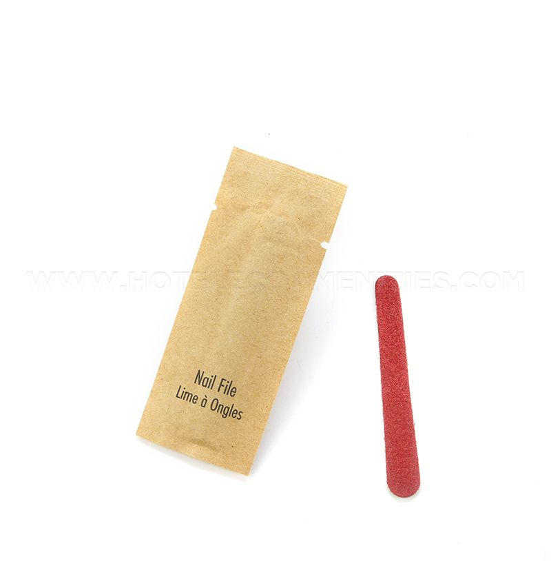 BIOCORN Hotel Disposable Nail Files 3 inches, Hotel Vanity Set Supplier
