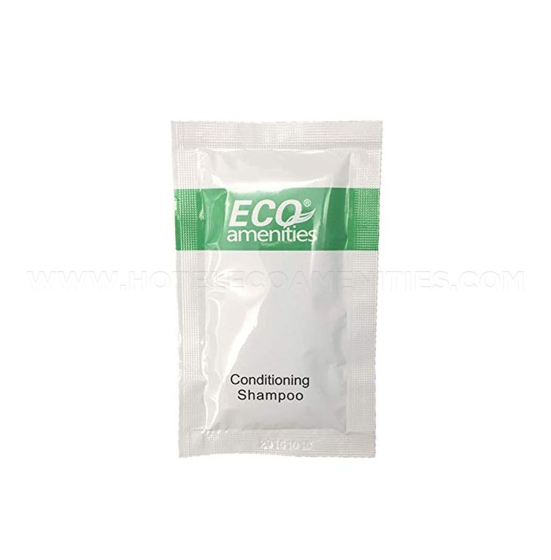 ECO AMENITIES Sachet Hotel Shampoo & Conditioner 2 in 1, 10ml