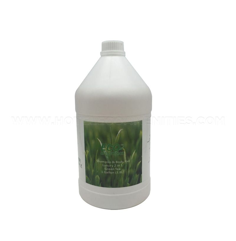 ECO AMENITIES Gallon Bottle Shampoo and Body Wash 2 in 1, 1 Gallon