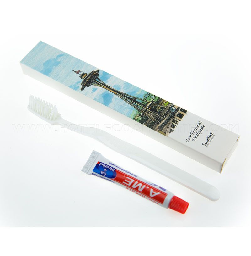 TravelWell Hotel Disposable Toothbrush and Toothpaste