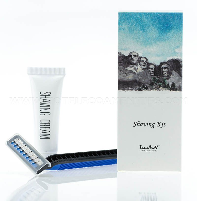 TravelWell Hotel Smooth Disposable Shaving Razor and Cream
