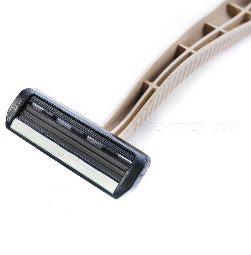 hotel shaving razor and cream
