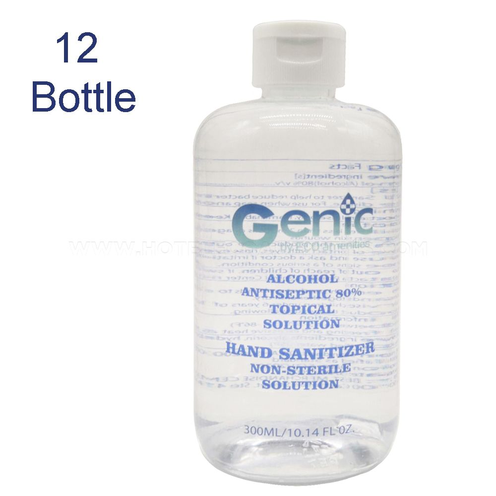 Genic by ECO Amenities 10.14oz/300ml 80% Alcohol Antibacterial Hand Sanitizer in Bulk 12 Count