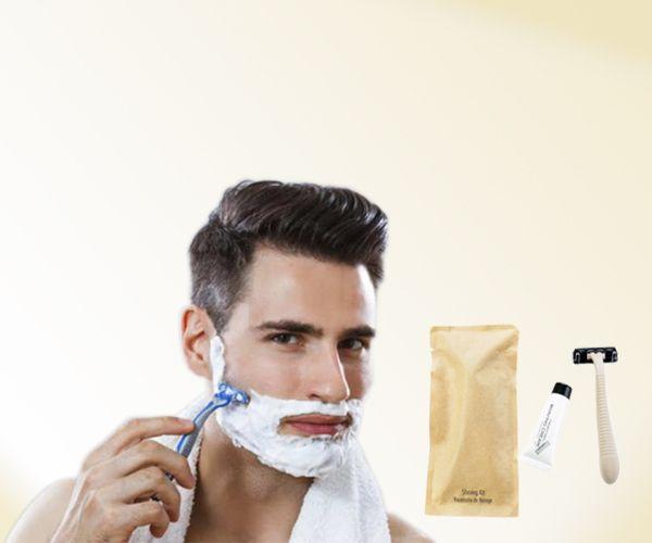 BIOCORN Hotel Disposable Shaving Razor with Cream