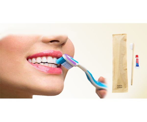 BIOCORN Bamboo Toothbrushes with Toothpaste