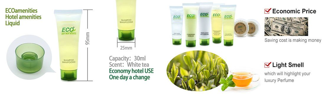 ECO AMENITIES Hotel Shampoo, 30ml/1.1oz